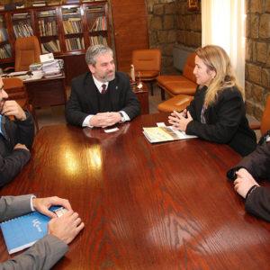 Académica brasileña de Universidad de Oro Preto se reúne con investigadores UCM