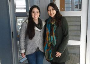 Daniela Brisso y Stefany Cordero, estudiantes becadas de la sede Curicó.